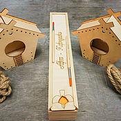 Куклы и игрушки handmade. Livemaster - original item Developing a set of feeders for painting on wood. Handmade.