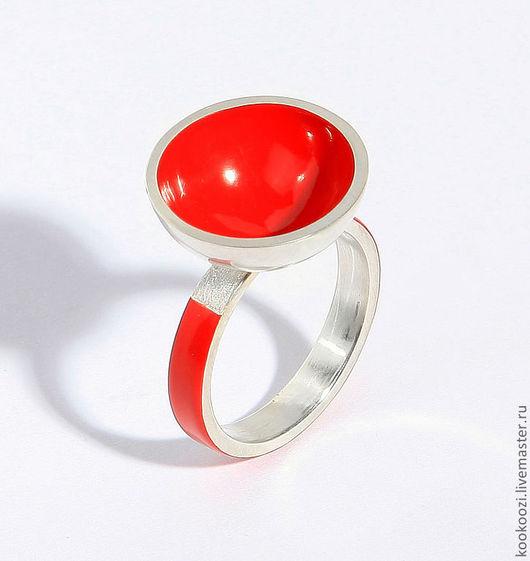 Кольца ручной работы. Ярмарка Мастеров - ручная работа. Купить Япония. Handmade. Ярко-красный, серебро