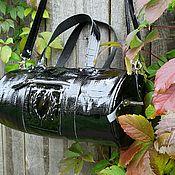 Спортивная сумка ручной работы. Ярмарка Мастеров - ручная работа Женская спортивная сумка из натуральной кожи под крокодила. Handmade.