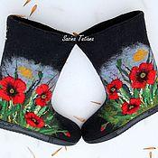 """Обувь ручной работы. Ярмарка Мастеров - ручная работа Валенки """" Маки 3D"""". Handmade."""