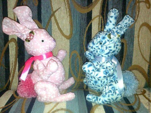 Игрушки животные, ручной работы. Ярмарка Мастеров - ручная работа. Купить Винтажные зайцы. Handmade. Заяц игрушка, винтажный стиль