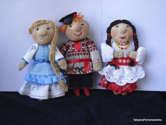 Народные куклы ручной работы. Ярмарка Мастеров - ручная работа. Купить Куклы-мини Русский народец. Handmade. Русские куклы