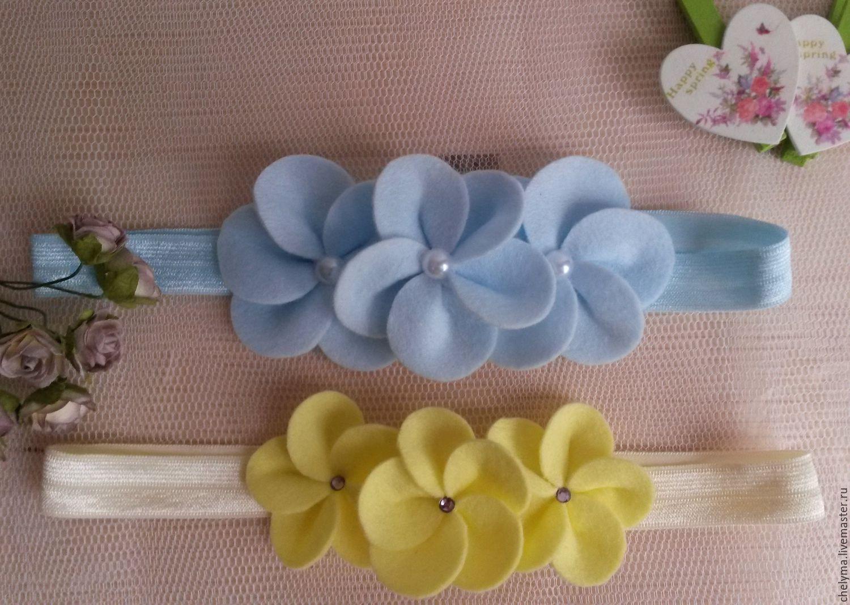Как сделать повязку с цветами своими руками мастер класс 40