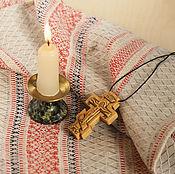 """Украшения ручной работы. Ярмарка Мастеров - ручная работа """"Саров"""" деревянный нательный крест-распятие из кипариса. Handmade."""