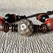 Украшения handmade. Livemaster - original item Boho beads from a Distance. Silver Karen hill, coral, wood, copper copyright. Handmade.