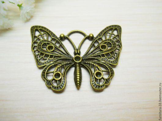 подвеска, подвеска ажурная,подвеска бабочка