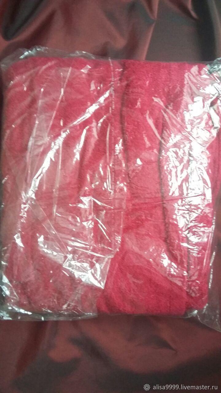 Home   Interior handmade. Children s Terry Bathrobe. Red.Cotton. Bedding b062786e0