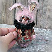 Куклы и игрушки ручной работы. Ярмарка Мастеров - ручная работа Teddy bear and friends/ Artist Bear мини зайка тедди винтаж. Handmade.