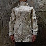 """Одежда ручной работы. Ярмарка Мастеров - ручная работа Авторский валяный свитер- свитшот """"Дороги"""". Handmade."""