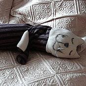 Куклы и игрушки ручной работы. Ярмарка Мастеров - ручная работа кот мягкий подушковый. Handmade.