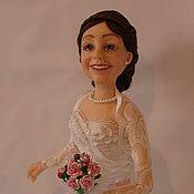 Куклы и игрушки ручной работы. Ярмарка Мастеров - ручная работа Авторская Портретная Кукла Невеста из полимерной глины. Handmade.