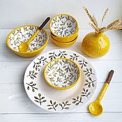 Посуда handmade. Livemaster - original item Set of tableware: Lemon. Handmade.