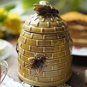 Винтаж handmade. Livemaster - original item Earthenware jar for honey. Handmade.
