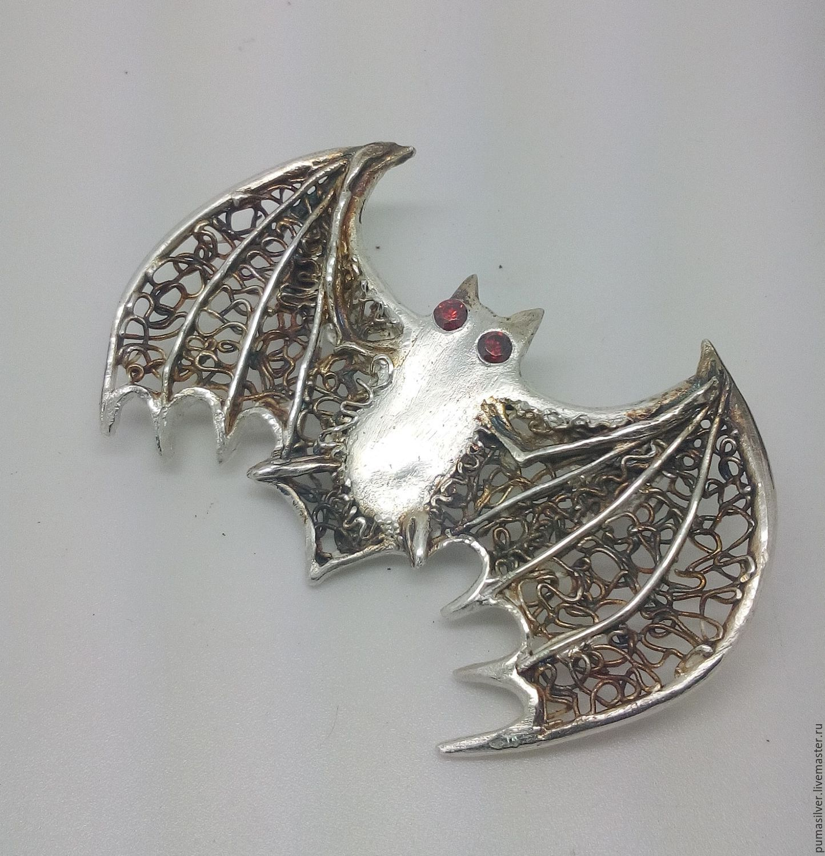 "Brooch ""Bat"" from silver, Brooches, Pachuca (de Soto),  Фото №1"