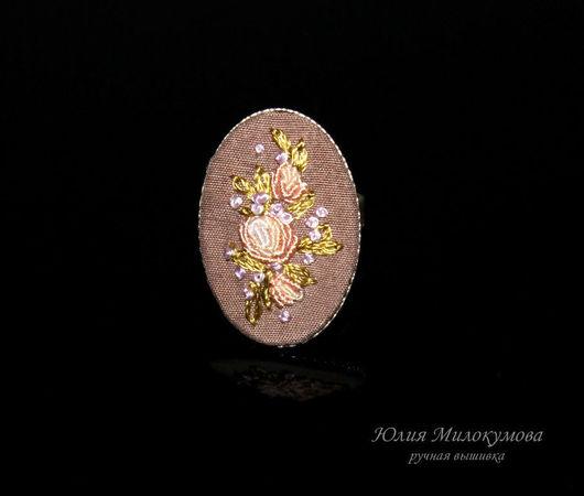 """Кольца ручной работы. Ярмарка Мастеров - ручная работа. Купить Вышитое кольцо """"Глуа де Дижон"""". Handmade. Ручная вышивка"""