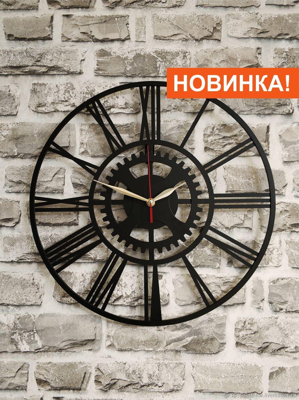Настенные часы в стиле Лофт – заказать на Ярмарке Мастеров – KVM92RU   Часы классические, Санкт-Петербург