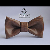 Аксессуары handmade. Livemaster - original item Tie Sepultura / leather light brown bow tie. Handmade.