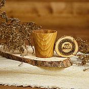 Посуда handmade. Livemaster - original item Wooden Glass Siberian Elm #R12. Handmade.