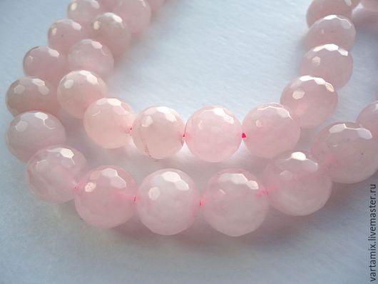 Для украшений ручной работы. Ярмарка Мастеров - ручная работа. Купить Розовый кварц бусина шар с огранкой 10мм. Handmade.