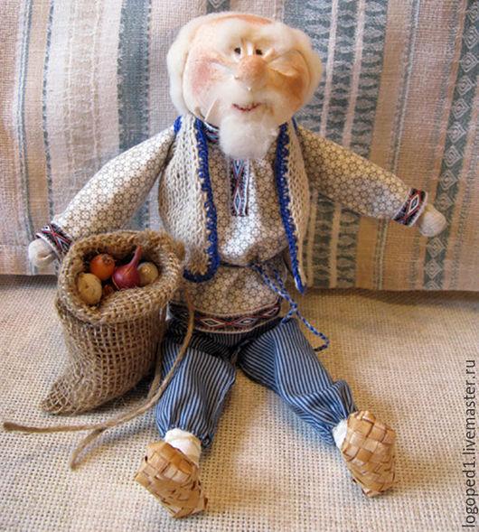 Народные куклы ручной работы. Ярмарка Мастеров - ручная работа. Купить Дедуля с луком (народная кукла). Handmade. Народная кукла