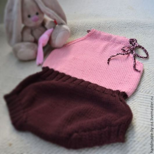 Одежда для девочек, ручной работы. Ярмарка Мастеров - ручная работа. Купить Детский комбинезон. Handmade. Рисунок, комбинезон для девочки, розовый
