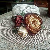 Аксессуары ручной работы. Ярмарка Мастеров - ручная работа Цветы для шляпки. Handmade.