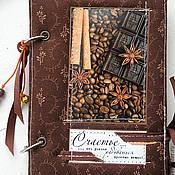 "Канцелярские товары ручной работы. Ярмарка Мастеров - ручная работа Блокнот на кольцах ""Шоколад"". Handmade."