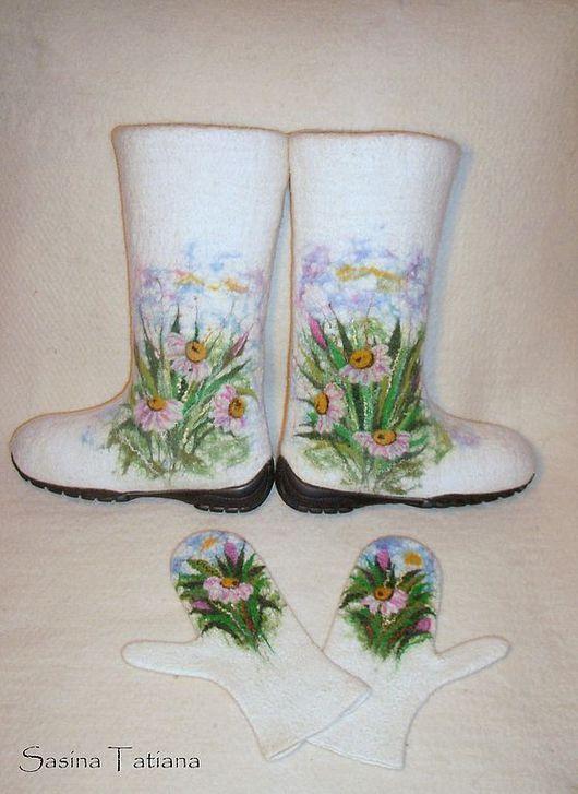 """Обувь ручной работы. Ярмарка Мастеров - ручная работа. Купить Валенки """"Нежность"""". Handmade. Шерсть"""