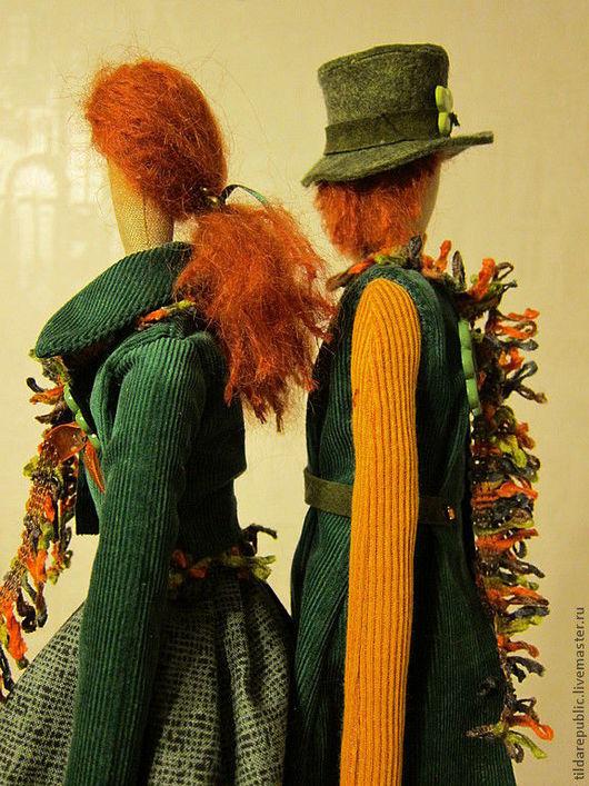 """Куклы Тильды ручной работы. Ярмарка Мастеров - ручная работа. Купить Тильды для влюбленных в Ирландию """"День Святого Патрика"""". Handmade."""