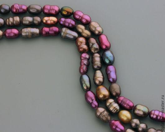 Для украшений ручной работы. Ярмарка Мастеров - ручная работа. Купить Жемчуг разноцветный микс нить (Код: бж64). Handmade.