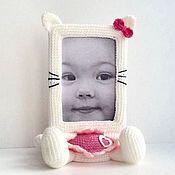 Куклы и игрушки ручной работы. Ярмарка Мастеров - ручная работа Фоторамка для девочки Кошечка Китти. Handmade.