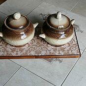 Для дома и интерьера handmade. Livemaster - original item Ceramic thermal stand on wooden platform PCT-M0000007. Handmade.