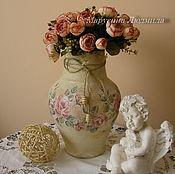 """Для дома и интерьера ручной работы. Ярмарка Мастеров - ручная работа крынка""""Шепот роз"""". Handmade."""