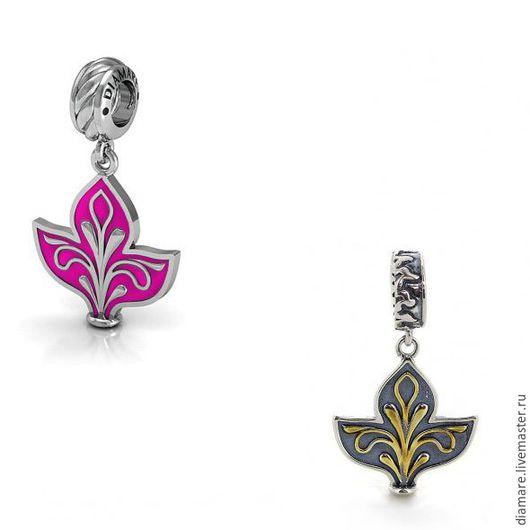 Серебряная шарм-подвеска `Лилия`. Арт. 04-0113.