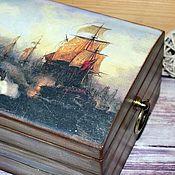 """Для дома и интерьера ручной работы. Ярмарка Мастеров - ручная работа """"Одиссея капитана Блада""""  небольшой сундук для сокровищ. Handmade."""