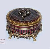 Для дома и интерьера handmade. Livemaster - original item Round box-bomboniere Dolce vita. Handmade.