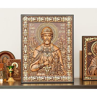 Pictures and panels handmade. Livemaster - original item Holy Prince Dmitry Donskoy. Handmade.