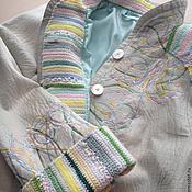 Одежда ручной работы. Ярмарка Мастеров - ручная работа Вышивка дубленки. Handmade.