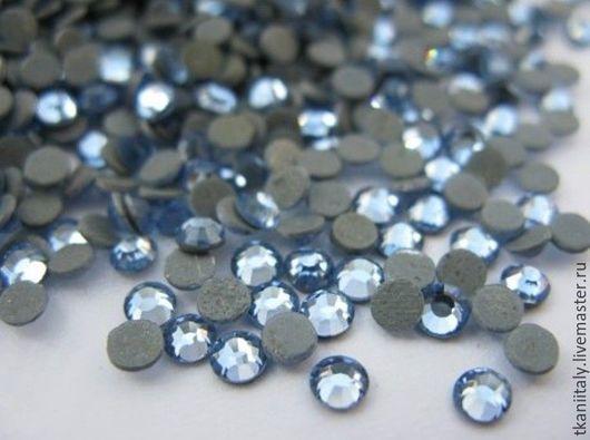 Для украшений ручной работы. Ярмарка Мастеров - ручная работа. Купить Клеевые стразы кристаллы Asfour Light Sapphire. Handmade.