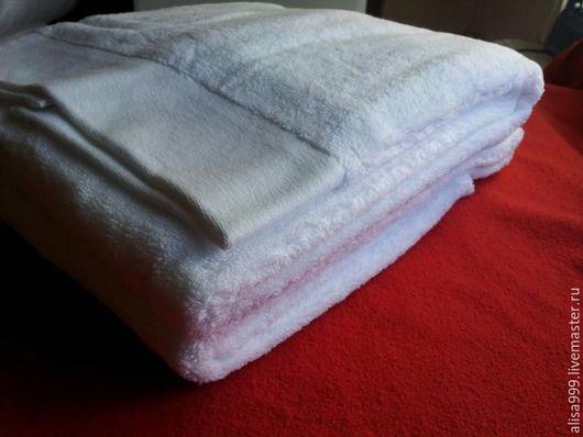 Текстиль, ковры ручной работы. Ярмарка Мастеров - ручная работа. Купить Махровое полотенце 100x150см микрокоттон. Handmade. Белый