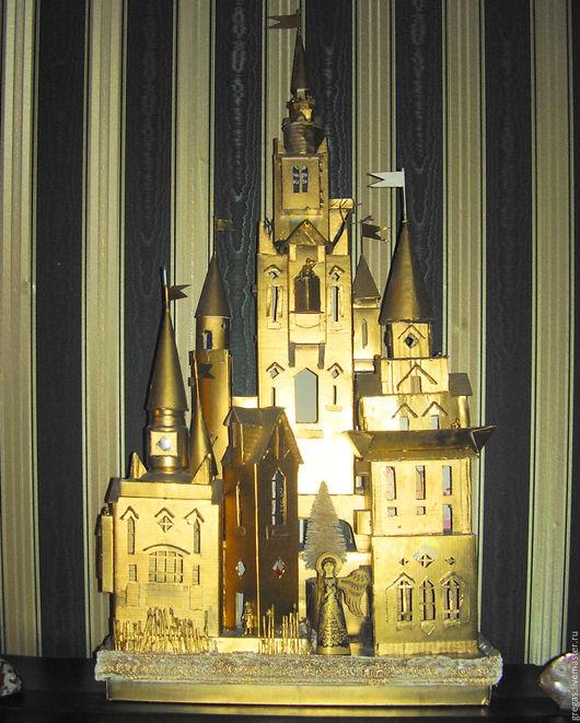 Элементы интерьера ручной работы. Ярмарка Мастеров - ручная работа. Купить Золотой дворец. Handmade. Замок, Сказочный замок, инсталляция
