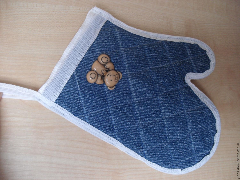 Джинсовая прихватки своими руками из ткани