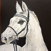 Картины и панно handmade. Livemaster - original item Horse oil painting. Grace. Handmade.