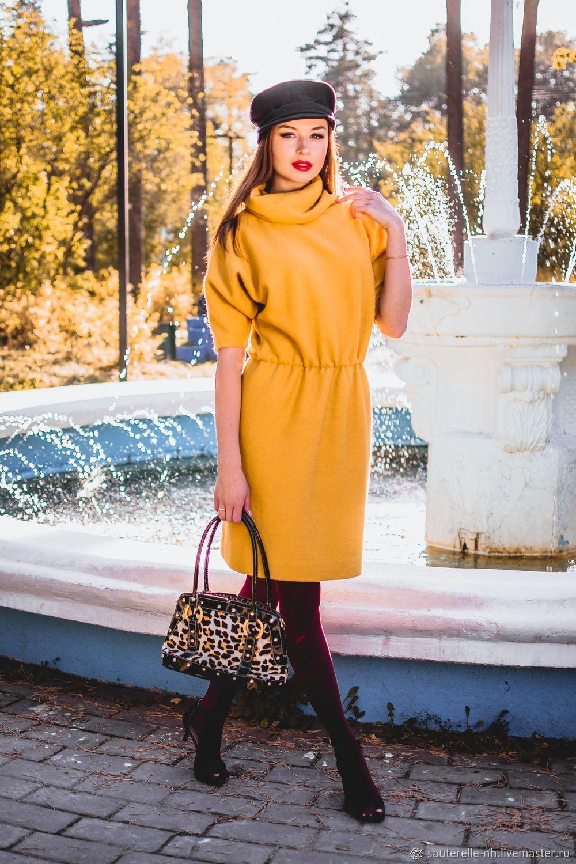 e55fc131fa6 Платья ручной работы. Ярмарка Мастеров - ручная работа. Купить Платье  теплое желтое.