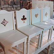 Для дома и интерьера ручной работы. Ярмарка Мастеров - ручная работа комплект стульев для игры в карты. Handmade.
