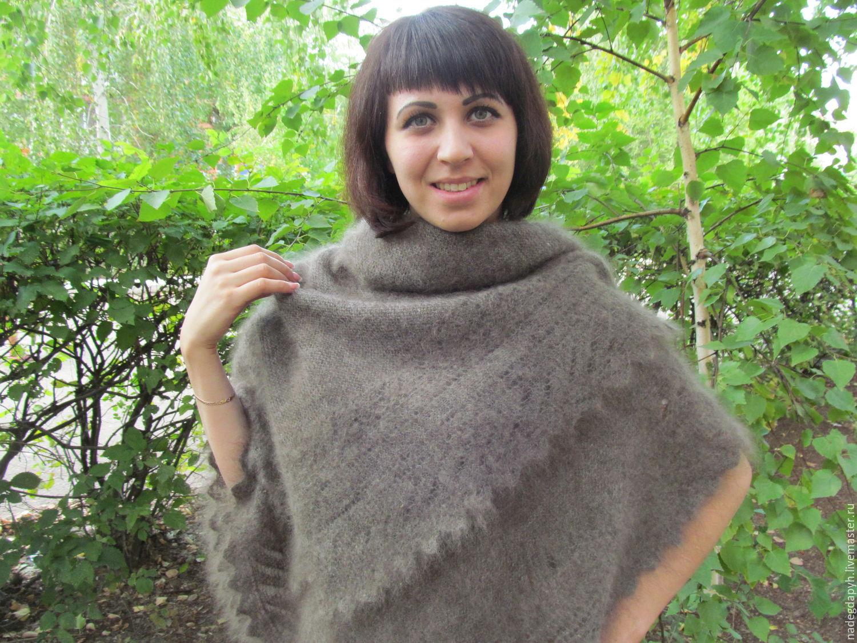 144 the Orenburg downy shawl, feather shawl, accessories, Shawls1, Orenburg,  Фото №1
