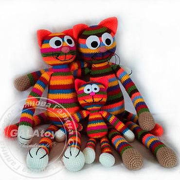 Куклы и игрушки ручной работы. Ярмарка Мастеров - ручная работа Кот радужный (60 см). Handmade.