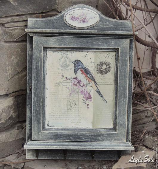 ключница в стиле прованс для Вашей прихожей Птичка, можно сделать на щиток.