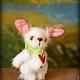 Мишки Тедди ручной работы. Собачка Белочка. Сказка рядом. Ярмарка Мастеров. Крошечная, шерсть