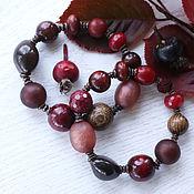 """Украшения ручной работы. Ярмарка Мастеров - ручная работа """"Багрянец"""" комплект браслетов. Handmade."""